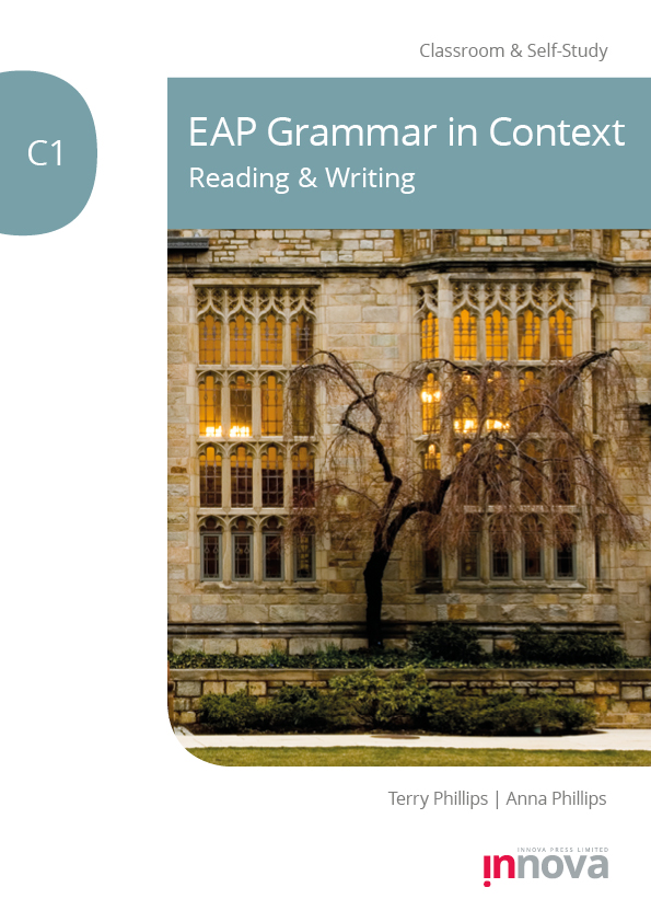 Front cover for EAP Grammar in Context C1: Reading & Writing published by Innova Press, stone windows